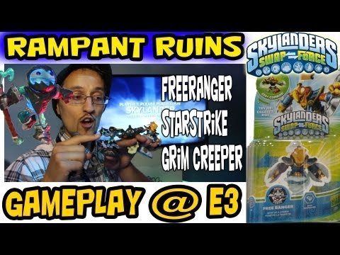 Rampant Ruins - SwapForce E3 Gameplay (Free Ranger. Star Strike & Grim Creeper)
