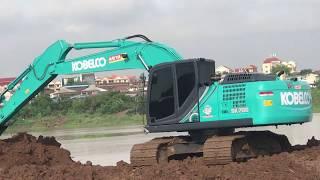 New Excavator KOBELCO SK200 Testing Work