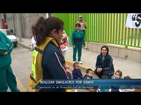 Realizan en guarderías simulacros por sismos