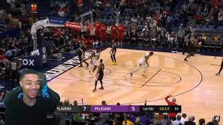 Zion 31 Points! FlightReacts Portland Trail Blazers vs New Orleans Pelicans - Full Highlights 2020!