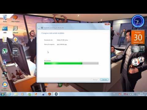 Como enviar ou receber arquivos via Bluetooth no Windows 7