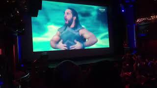 WWE Wrestlemania 34 Live Reaction from The Grand (London) - SETH ROLLINS ENTRANCE