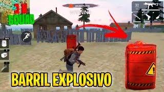 NUEVO BARRIL EXPLOSIVO! - FREE FIRE Battlegrounds🔥
