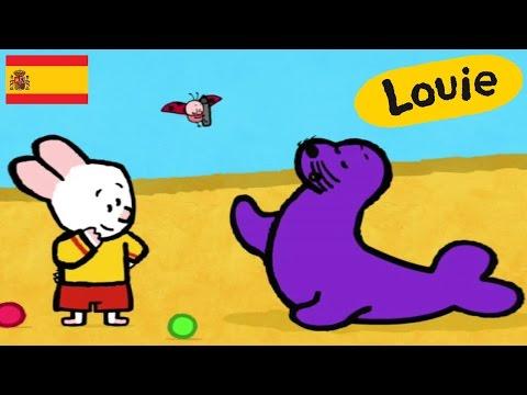 León marino - Louie dibujame un león marino | Dibujos animados para niños