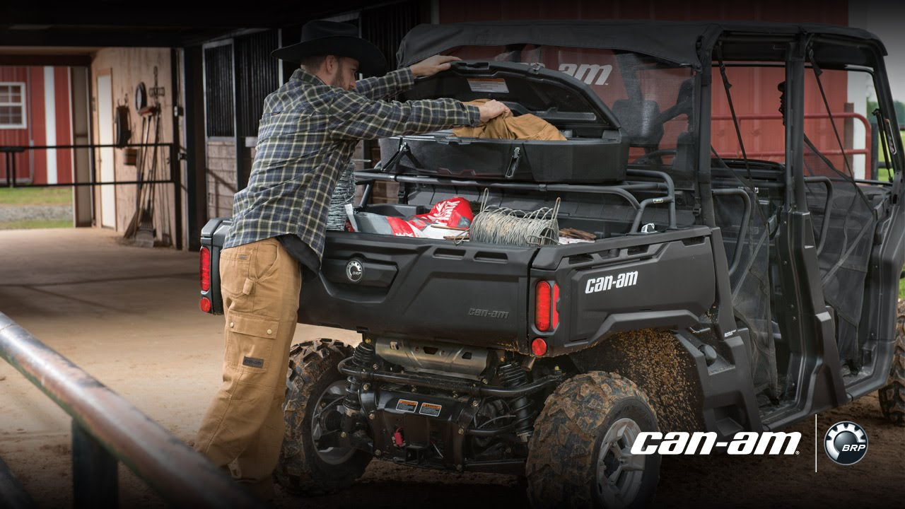 Can am defender 2017 cargo accessories youtube