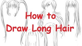 How to Draw Long Hair - 9 Different Hairstyles - Slow motion (HD)