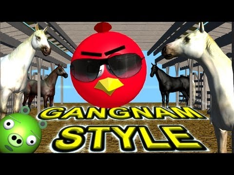 download lagu ANGRY BIRDS Dance GANGNAM STYLE   ♫ 3D gratis