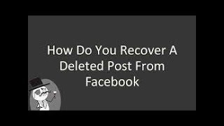 How to recover post that remove by fb goes against community standards