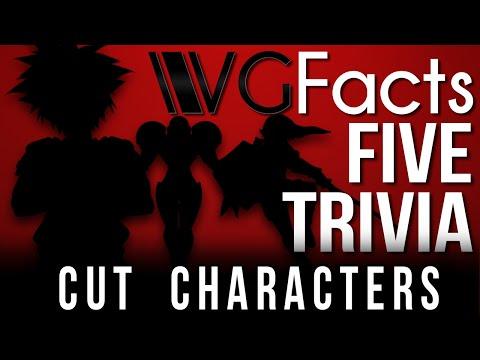 5 Cut Characters - VG Facts Five Trivia Feat. Caddicarus