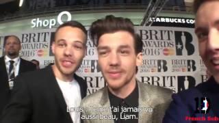 Download Lagu Louis Tomlinson et Liam Payne aux Brits Awards 2016 VOSTFR Traduction Française Gratis STAFABAND