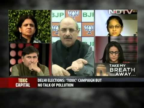 The debate on NDTV on the Air Pollution in Delhi