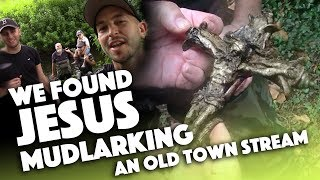 WE FOUND JESUS and more! - Mudlarking a stream for river treasure!