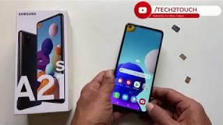 03. Samsung Galaxy A21s  Insert SIM card and MicroSD card