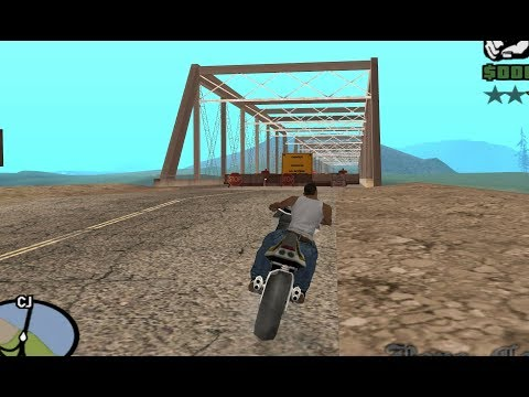 GTA San Andreas - How to cross the Fallow Bridge with the invisible barriers in place - early access