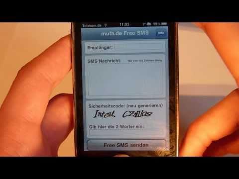 Kostenlos SMS senden? in alle deutschen Netze? mit iPod Touch iPhone und iPad