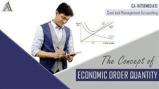 ECONOMIC ORDER QUANTITY (EOQ) | CA-INTERMEDIATE | Cost & Management Accounting | Material Cost