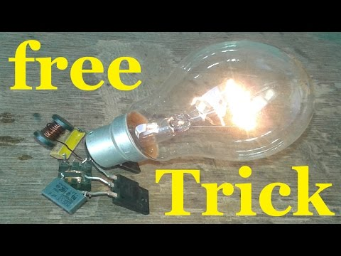 Free Energy Light Bulb Trick  230v bulb thumbnail