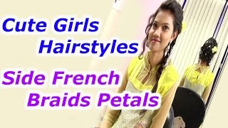 Side French Braids Petals - Cute Girls Hairstyles | Trendy Looks -Avani | HMTV