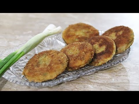 Potato Katlas With Spring Onion Recipe | Aloo Ke Kabab | Indian Pakistani Recipes Urdu/Hindi