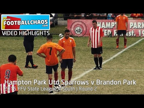 2015 FFV Rd 02 - Hampton Park United Sparrows v Brandon Park