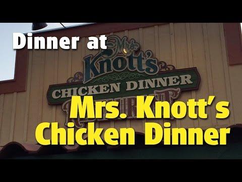 Tom and Mary Jo Dine at Mrs. Knott's Chicken Dinner Restaurant   Knott's Berry Farm