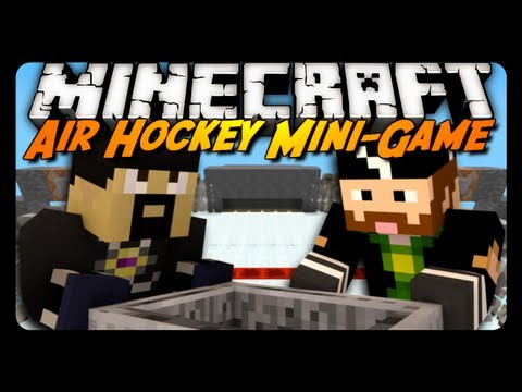 Minecraft Mini-Game: Air Hockey! w/ AntVenom & CavemanFilms!