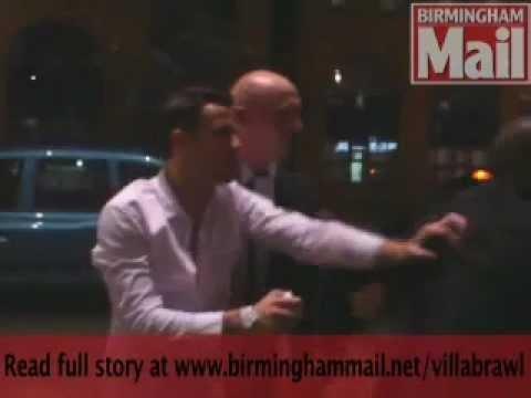 Aston Villa players Fighting in Birmingham nightclub.