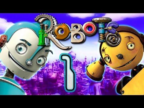 Robots Walkthrough Part 1 - [The Movie Game] - (PS2, XBOX, PC, Gamecube) Rivet Town