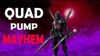 QUAD PUMP MAYHEM! | 4 PUMP CHALLENGE! - (Fortnite Battle Royale)