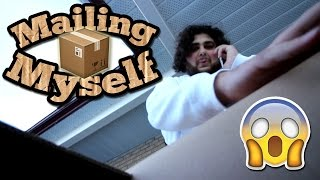(GONE WRONG!) MAILING MYSELF IN A BOX // 24 HOUR OVERNIGHT CHALLENGE IN A BOX MAILING MYSELF!