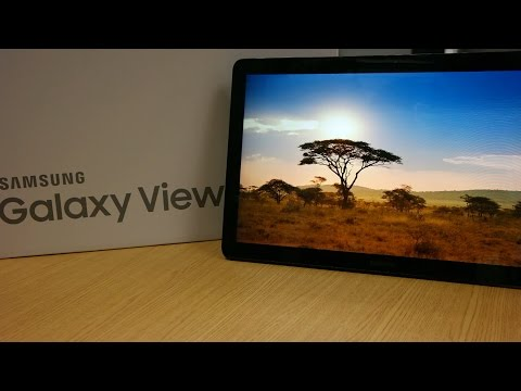 Samsung Galaxy View 18.4 Inch Tablet - Unboxing & Hand's On