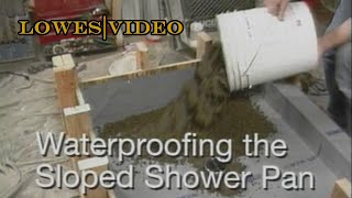 How to build a waterproof shower base with concrete