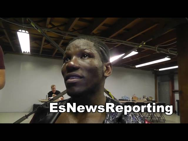 hassan ndam after his win over stevens EsNews