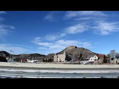 A drive through Trinidad, Colorado over Interstate 25