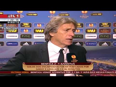 Jorge Jesus Flash Interview Benfica 2 Vs 1 Juventus Liga Europa 2014