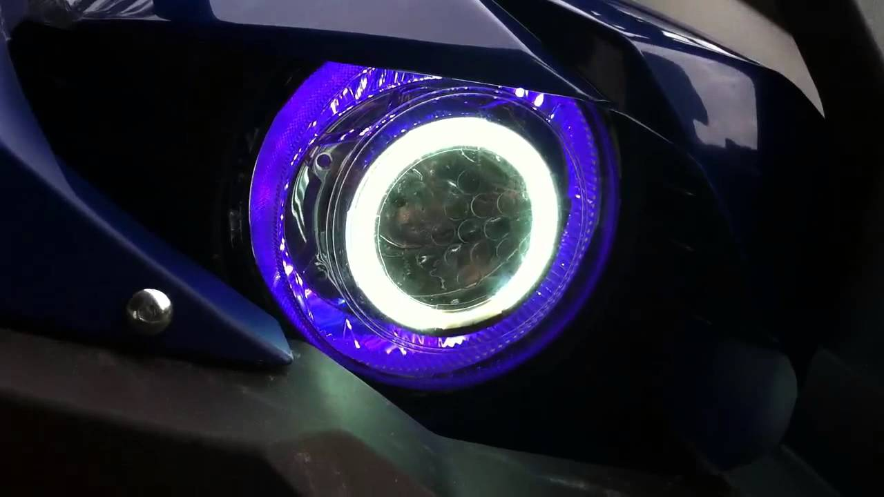 Yamaha Grizzly 660 >> Custom HIDs w/ halo & LEDs Grizzly 700 - YouTube