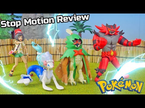 Pokemon Toys Decidueye Incineroar Primarina Evolution Figure Sets | Stop Motion