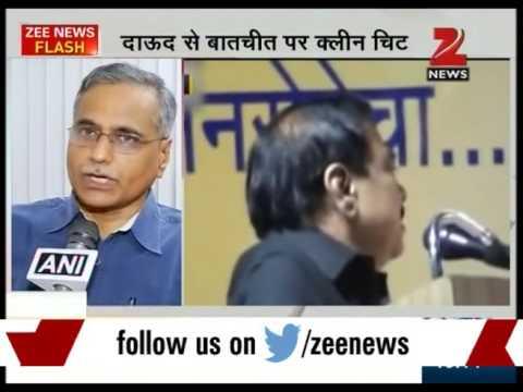 "Mumbai police exonerates  commerce minister Eknath Khadse in relation to ""Talk with Dawood"""