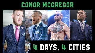Conor McGregor travels in style as he goes through 4 cities in 4 days