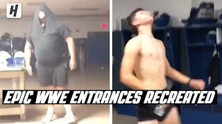HS Football Players Recreate WWE Entrances After Practice!