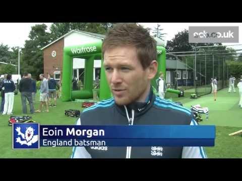 England batsman Eoin Morgan makes Club Open Day visit