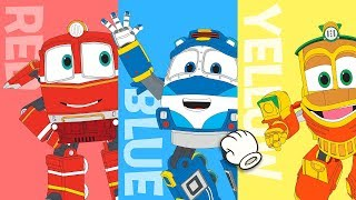 Robot Trains Learning Colors | 로봇트레인과 함께하는 색깔 놀이! | puzzle | kids game