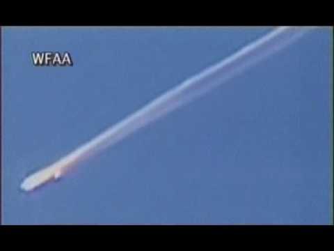 Nasa Space Shuttle Columbia Break Up Flight Footage