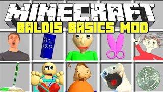 Minecraft : BALDI'S BASICS IN EDUCATION MOD! - SPAWN IN BALDI! (Ps3/Xbox360/PS4/XboxOne/PE/MCPE)