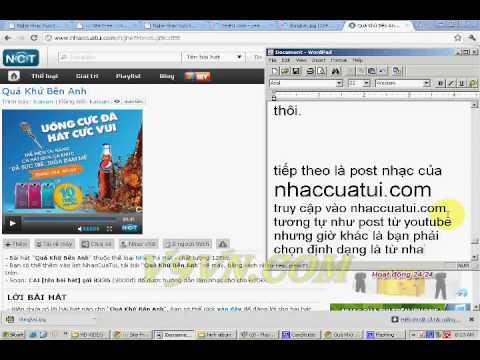 CÁch Post NhẠc TỪ Nhaccuatui PhẦn 1 video