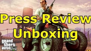 Grand Theft Auto 5 Unboxing Press Review Copy & Rockstar Swag How to get a Press Review Copy GTA V