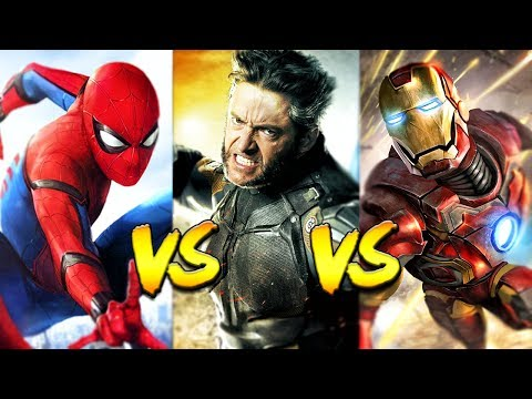 Человек Паук VS Росомаха VS Железный Человек