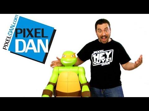 Nickelodeon Teenage Mutant Ninja Turtles 4 Foot Tall Michelangelo Figure Video Review