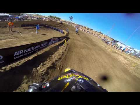 GoPro HD: Ryan Sipes Lap 1 Moto 2 - Hangtown MX Lucas Oil Pro Motocross Championship 2013