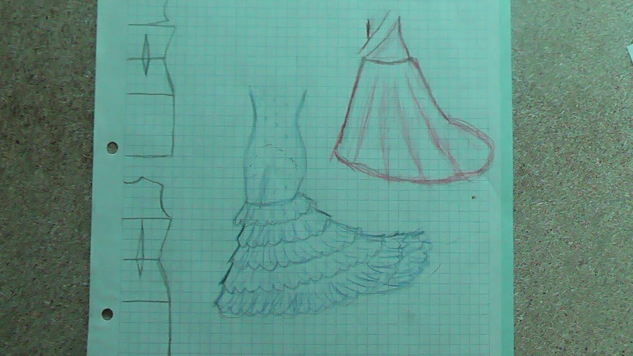 Como cortar una falda de cola flamenca youtube for Como hacer una pileta de fibra